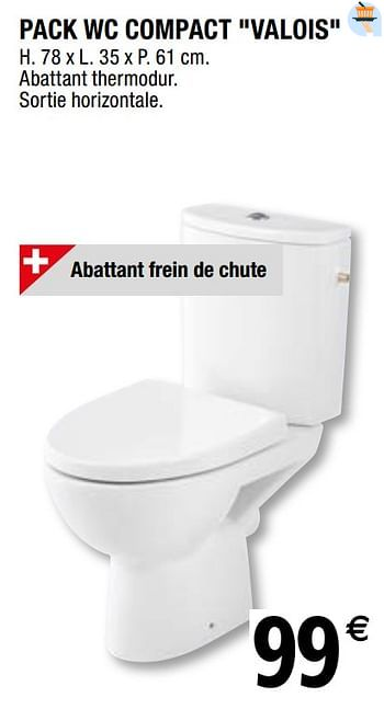 Promotion Brico Depot Pack Wc Compact Valois Goodhome Construction Renovation Valide Jusqua 4 Promobutler