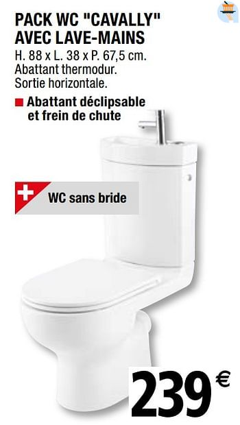 Promotion Brico Depot Pack Wc Cavally Avec Lave Mains Goodhome Construction Renovation Valide Jusqua 4 Promobutler
