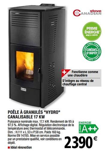 Promotion Brico Depot Poele A Granules Hydro Canalisable Produit Maison Brico Depot Chauffage Et Climatisation Valide Jusqua 4 Promobutler