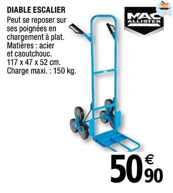 Promotion Brico Depot Diable Escalier Mac Allister Bricolage Valide Jusqua 4 Promobutler