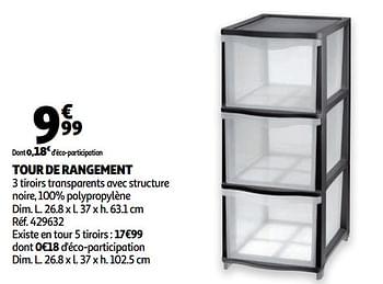 Tour De Rangement Auchan