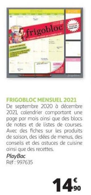 promotion Auchan Ronq: Frigobloc mensuel 2021   Produit Maison