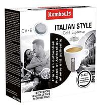Rombouts Koffiepods Italian Style - 10 dozen-Rombouts