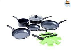 GreenChef 10-delige set Soft Grip Black Diamond