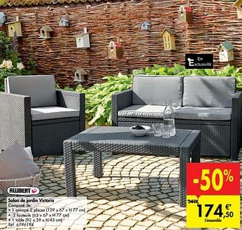 Promotion Carrefour Salon De Jardin Victoria Allibert Jardin Et Fleurs Valide Jusqua 4 Promobutler