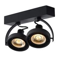 Lucide LED Plafondspot Dorian GU10 2 x 12 W langwerpig zwart-Lucide