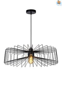 Lucide LED Hanglamp Jur 1 x E27 zwart Ø 57 cm-Huismerk - Makro