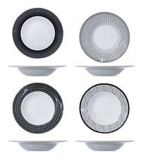 Cosy & Trendy 4 pastaborden Geo Black 27,5 cm-Cosy & Trendy