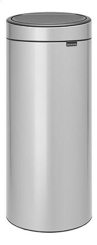 Brabantia Afvalemmer Touch Bin New metallic grey 30 l-Brabantia