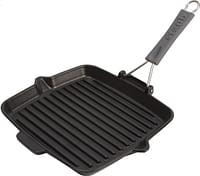 Staub Grillpan zwart 24 x 24 cm-Staub