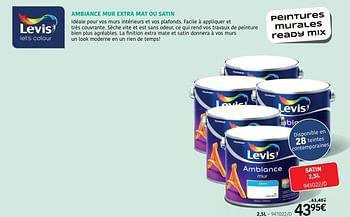 Promotion Handyhome Ambiance Mur Extra Mat Ou Satin Levis Interieur Decoration Valide Jusqua 4 Promobutler
