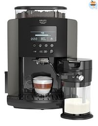 Krups Espressomachine Quattro Force Arabica Latte EA819E10 zwart/zwart grijs-Krups