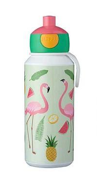 Tropical Flamingo pop up drinkfles 400ml-Mepal