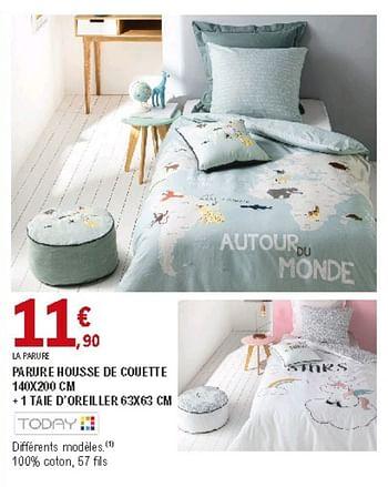Promotion E Leclerc Parure Housse De Couette 1 Taie D Oreiller Today Menage Valide Jusqua 4 Promobutler
