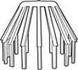 Bladvanger 100 mm grijs-Scala