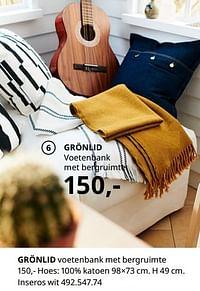 Grönlid voetenbank met bergruimte-Huismerk - Ikea