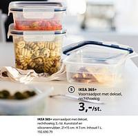 Ikea 365+ voorraadpot met deksel, rechthoekig-Huismerk - Ikea