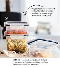 Ikea 365+ voorraadpot met deksel, vierkant-Huismerk - Ikea