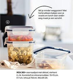 Ikea 365+ voorraadpot met deksel, vierkant