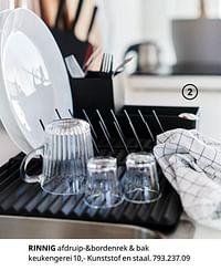 Rinnig afdruip-+bordenrek + bak keukengerei-Huismerk - Ikea