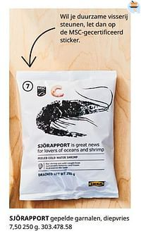 Sjörapport gepelde garnalen, diepvries-Huismerk - Ikea