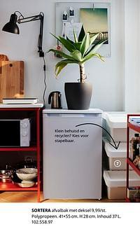 Sortera afvalbak met deksel-Huismerk - Ikea