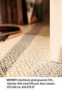 Vistoft vloerkleed, glad geweve-Huismerk - Ikea