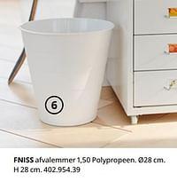 Fniss afvalemmer-Huismerk - Ikea