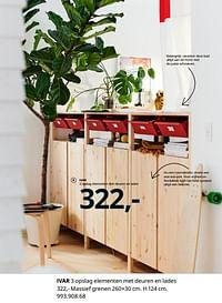 Ivar 3 opslag elementen met deuren en lades-Huismerk - Ikea