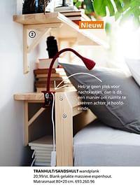 Tranhult-sandshult wandplank-Huismerk - Ikea