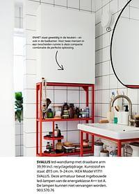 Svallis led-wandlamp met draaibare arm-Huismerk - Ikea