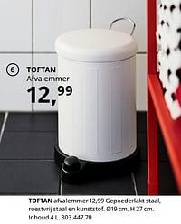 Toftan afvalemmer-Huismerk - Ikea