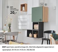 Eket open kast, wandmontage-Huismerk - Ikea