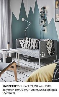 Knopparp 2-zitsbank-Huismerk - Ikea