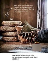 Alseda voetenbank-tafel-Huismerk - Ikea