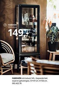 Fabrikör vitrinekast-Huismerk - Ikea