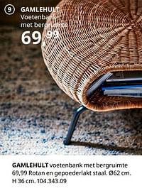 Gamlehult voetenbank met bergruimte-Huismerk - Ikea
