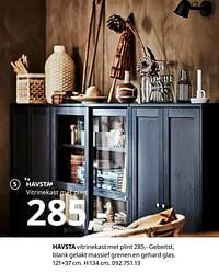 Havsta vitrinekast met plint-Huismerk - Ikea