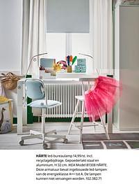 Hårte led-bureaulamp-Huismerk - Ikea