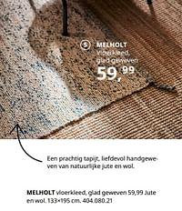 Melholt vloerkleed, glad geweven-Huismerk - Ikea