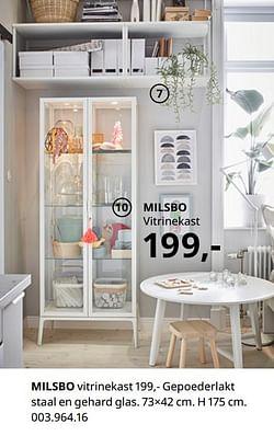 Milsbo vitrinekast