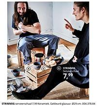 Strimmig serveerschaal-Huismerk - Ikea