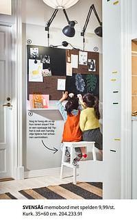 Svensås memobord met spelden-Huismerk - Ikea