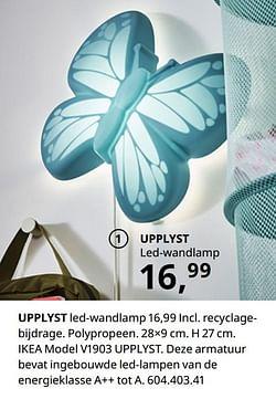Upplyst led-wandlamp