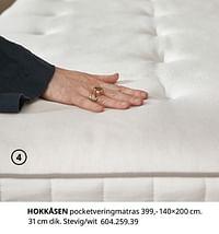 Hokkåsen pocketveringmatras-Huismerk - Ikea