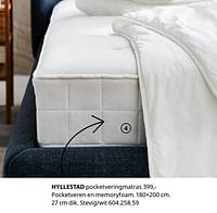 Hyllestad pocketveringmatras-Huismerk - Ikea