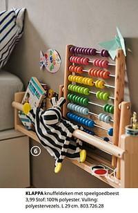 Klappa knuffeldeken met speelgoedbeest-Huismerk - Ikea