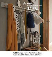 Kubbis hanger met 7 haken-Huismerk - Ikea