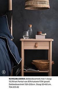 Kungsblomma dekbedovertrek met 1 sloop-Huismerk - Ikea