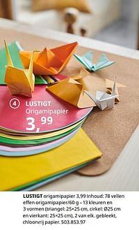 Lustigt origamipapier-Huismerk - Ikea